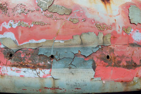 Old paint peeling from old truck photo
