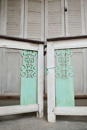 obody: Little white gate of Thai style house in Thailand Stock Photo