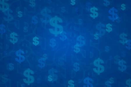 Dollarteken voor achtergrond, concept van het geld