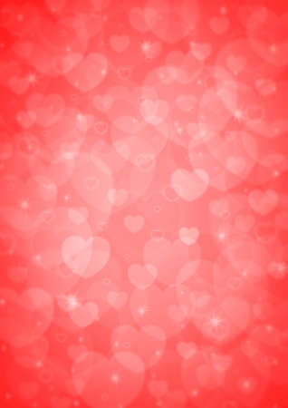 light red heart bokeh for love background photo