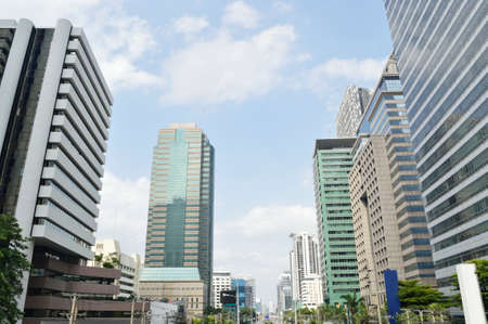 distric: Cityscape of the distric business, Bangkok Thailand