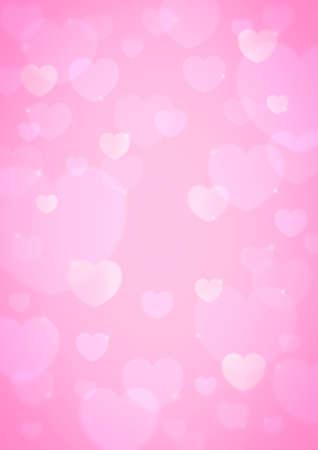light pink heart bokeh for love background photo