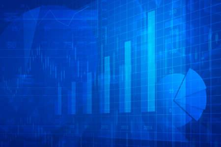 Financiële en zakelijke grafiek en grafieken Stockfoto - 36109095
