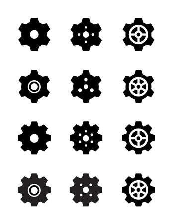 Set of vector gears Vector
