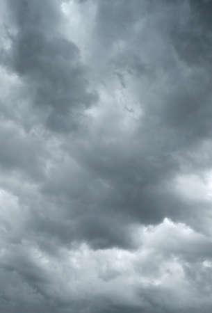 frightful: Dark storm clouds before rain, sky background Stock Photo