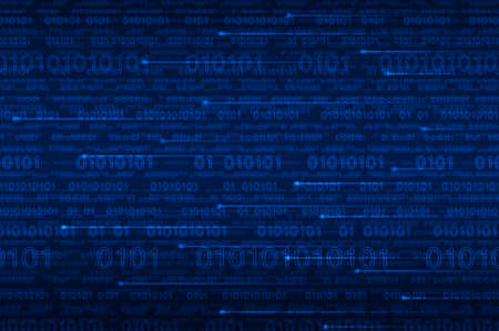 cryptogram: Computer binary code on blue background Stock Photo