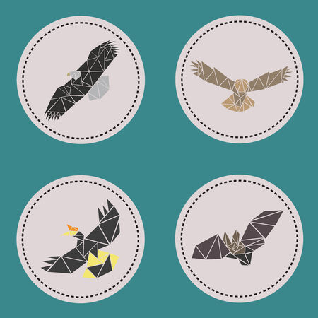 aves: Triangle aves fly animals Illustration