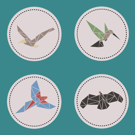 ave: Triangle aves fly animals Illustration