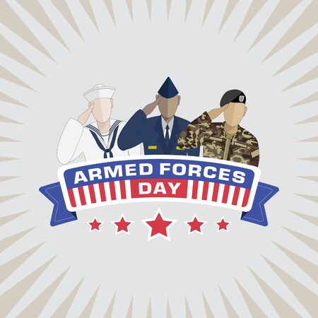 armed: Armed Forces Day background Illustration