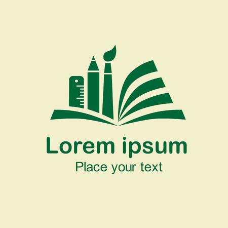 marca libros: Logotipo de elemento de diseño de papelería, símbolo ilustración icono, Como signo, símbolo, emblema, icono de los negocios resumen, icono corporativa. Vectores