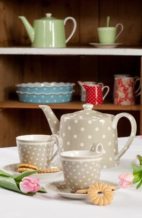 Gray tea set