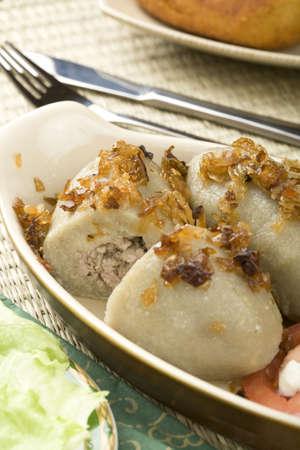 Lithuanian stuffed potato dumplings