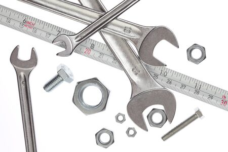 Tools, spanners and measuring tape