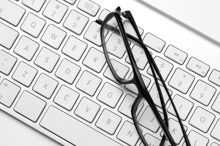 Glasses and keyboard Stock Photo - 10747383
