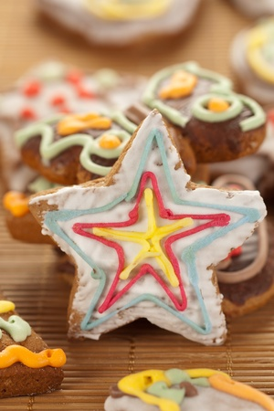 Star shaped gingerbread  photo