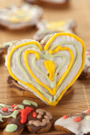 Heart shape gingerbread photo