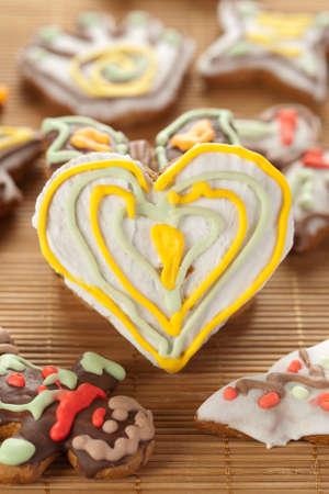 Heart shape gingerbread Stock Photo - 11108794