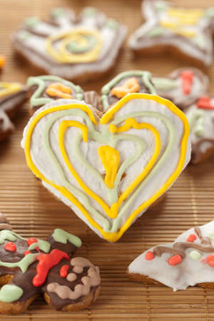 Heart shape gingerbread photo