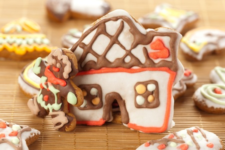 House and man made with gingerbread photo