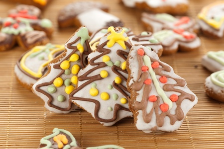 Christmas trees made with gingerbread Stock Photo - 11108799