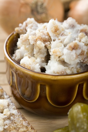 lard with cracklings Stock Photo
