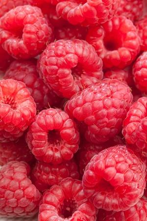 closeup of fresh raspberries photo
