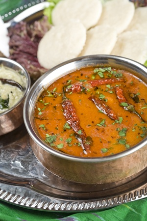 Sambar, lentil dish. Indian food Stock Photo