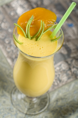 Indian, cocktail, drink Mango Lassi.