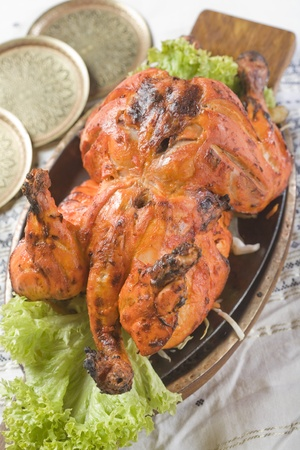 Indian food, Tandoori Murghi  Stock Photo