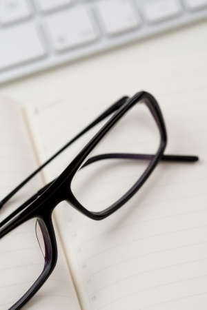 Glasses and keyboard Stock Photo - 13724339