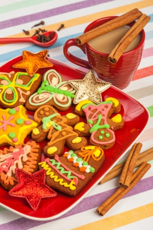 gingerbread, Christmas cookies photo