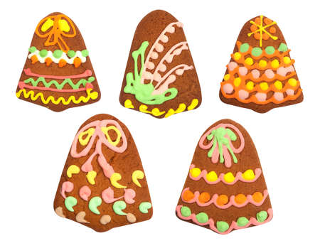 ringtones: Isolated gingerbread, ringtones on white background, top view