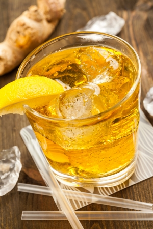 Yellow drink with ginger Stock Photo - 17038039