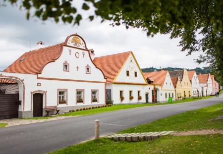 Village Holasovice, Czech Republic  Buildings in the baroque style