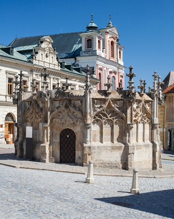 Kutna Hora, Czech Republic  Gothic Fountain Stock Photo - 17102548