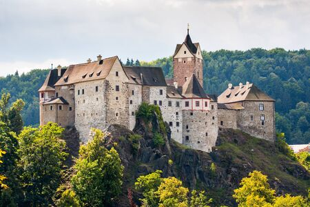 Loket, Czech Republic - August 13, 2012: Loket castle. Stock Photo - 17118758