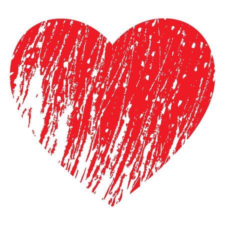 red heart Stock Vector - 17205454