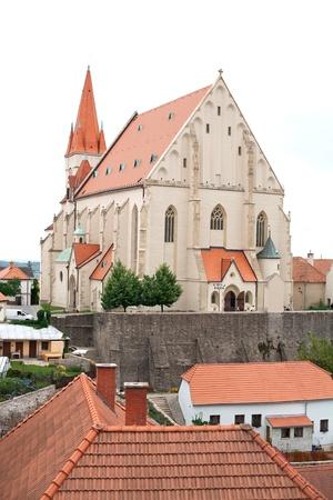 saintliness: Church of St  Nicholas and St  Wenceslas Chapel in Znojmo, Czech Republic  Stock Photo