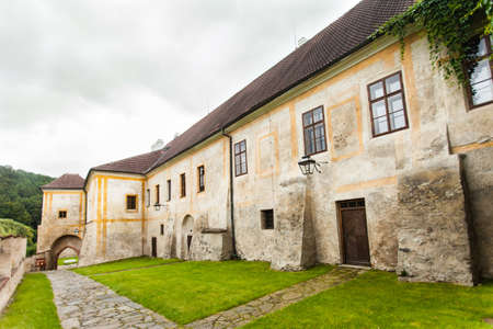 koruna: Zlata Koruna, Czech Republic - August 11, 2012: Gothic Cistercian monastery.