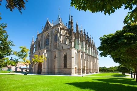 Kutna Hora, Czech Republic - August 14, 2012: Church of Saint Barbara, UNESCO World Heritage Site. Stock Photo - 18328592