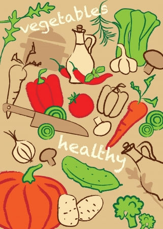 Set vegetables, vector illustration Vector