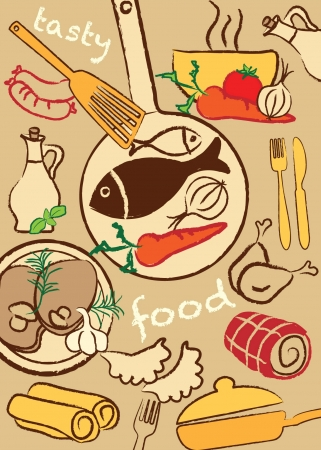 Set food, vector illustration Vector