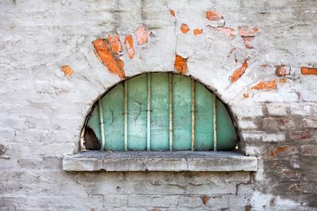 semicircular: Old semicircular window