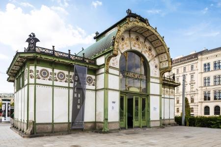 Vienna in Austria  Karlsplatz Stadtbahn Station  Jugendstil architecture  Vienna secession station was designed by Otto Wagner