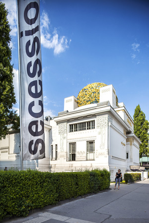 secession: Vienna, Austria - August 30, 2013; Vienna secession building on Karlsplatz an Exhibition Hall for Contemporary Art  Editorial
