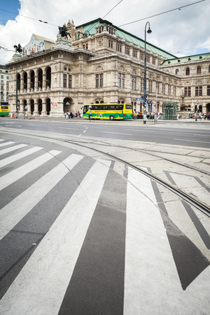 build in: Vienna, Austria - September 01, 2013; The Vienna State Opera Building  Build in 1869 in Neo-Renaissance style  Editorial