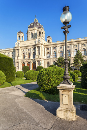 Building of the Imperial Natural History Museum in Vienna, Austria