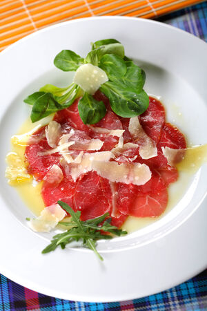 carpaccio: Carpaccio made from beef Stock Photo