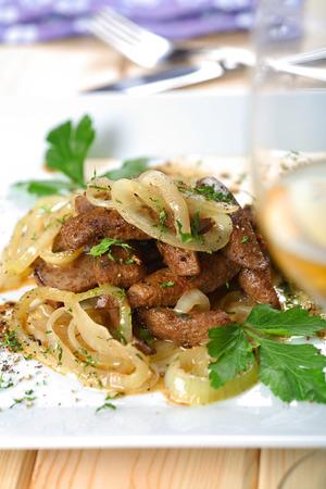 Veal liver alla veneziana