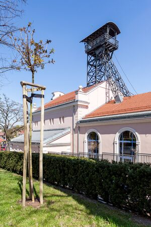 shafts: Wieliczka - Poland - April 23. Regis shaft. One of two main shafts of Wieliczka Salt Mine - Unesco underground Salt Mine Museum. Editorial